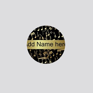Personalised designer gold Mu Mini Button