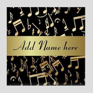 Personalised designer gold Mu Tile Coaster