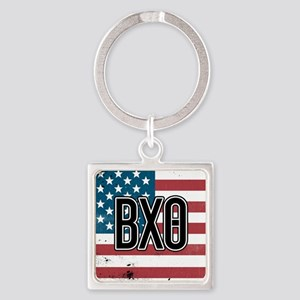 Beta Chi Theta Flag Square Keychain