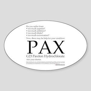 Pax Sticker (Oval)