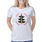 Folk Art Christmas Tree Women's Classic T-Shirt