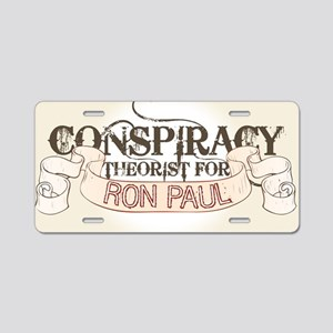 Ron Paul Conspiracy Aluminum License Plate