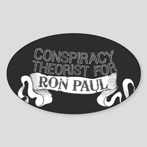 Conspiracy Ron Paul Sticker (Oval)