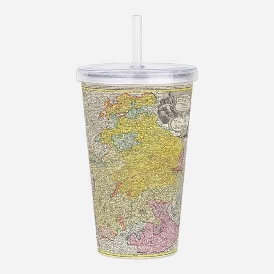 Vintage Map of Bavaria Acrylic Double-wall Tumbler