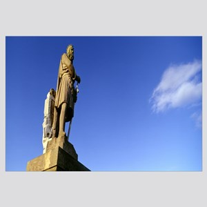 Low angle view of statue of Robert the Bruce Stirl