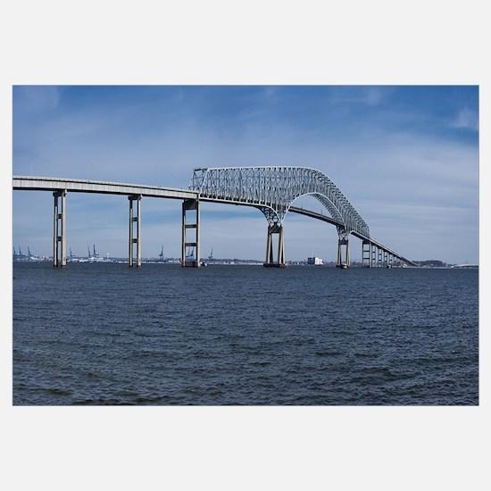 Bridge across a river Francis Scott Key Bridge Pat