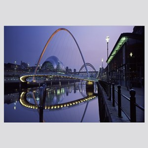 Bridge across a river Gateshead Millennium Bridge