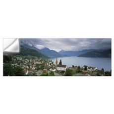 City at the lakeside Lake Lucerne Weggis Lucerne C Wall Decal