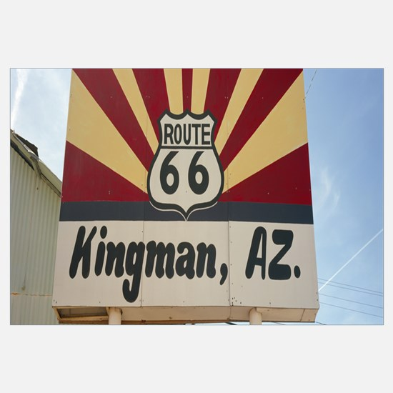 Low angle view of a road sign Route 66 Kingman Moh
