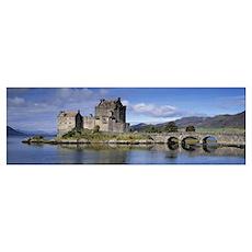 Castle on an island Eilean Donan Loch Duich Dornie Poster