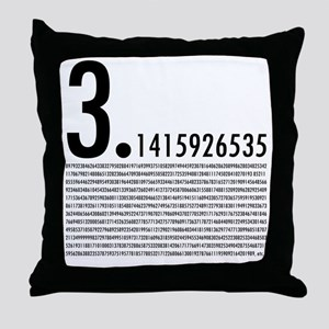 1,001 Pieces of Pi Throw Pillow