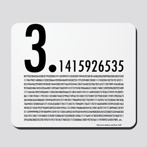 1,001 Pieces of Pi Mousepad
