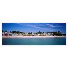 Houses On The Beach, Capitola, Santa Cruz, Califor Poster