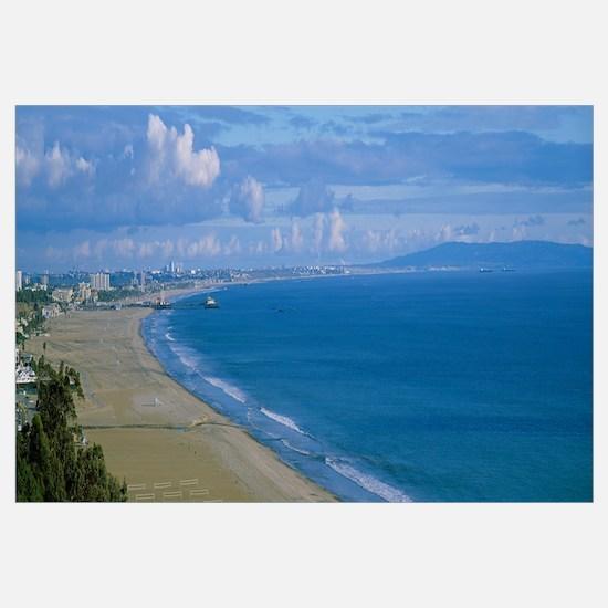 High angle view of the beach, Santa Monica, Califo