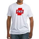 POZ PWR Fitted T-Shirt (white)