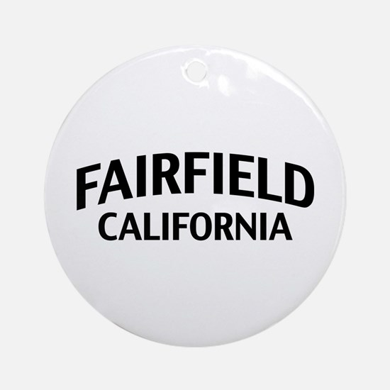 Fairfield California Ornament (Round)