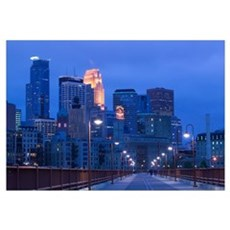 Buildings in a city, Minneapolis, Minnesota Framed Print