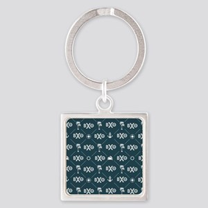 Beta Chi Theta Blue Pattern Keychains
