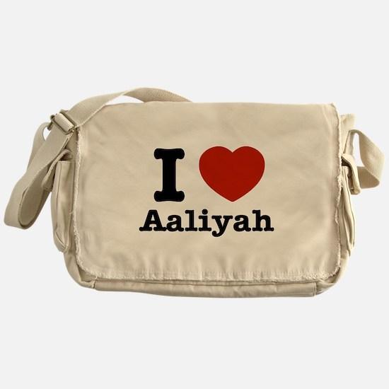 I love Aaliyah Messenger Bag