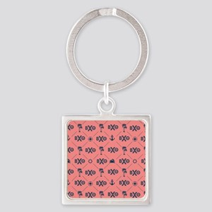 Beta Chi Theta Coral Pattern Keychains