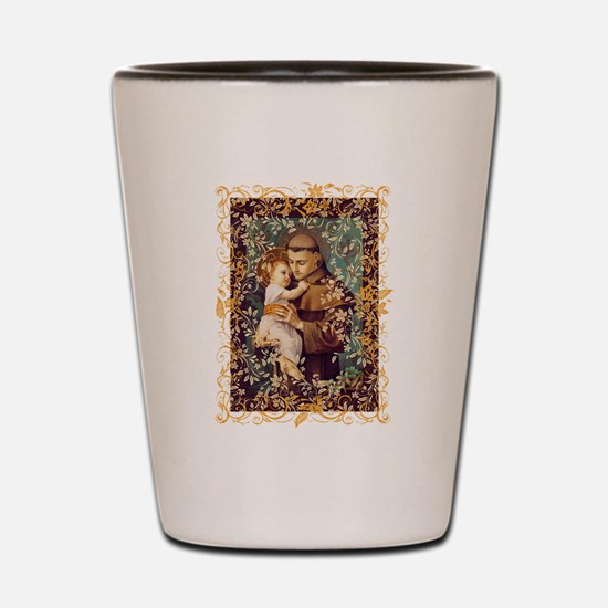 Saint Anthony Shot Glass