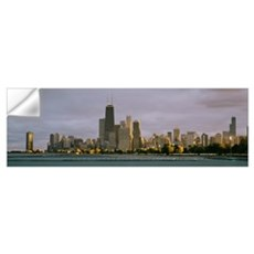 Skyscrapers at the waterfront, Lake Michigan, Chic Wall Decal
