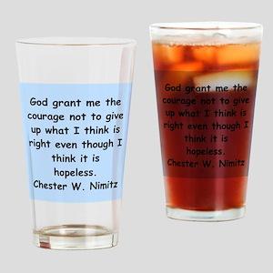 chester nimitz Drinking Glass