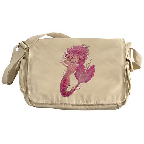 Pink Ribbon Mermaid Messenger Bag