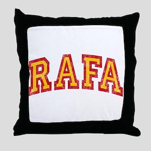 Rafa Red & Yellow Throw Pillow