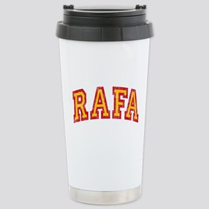 Rafa Red & Yellow Stainless Steel Travel Mug