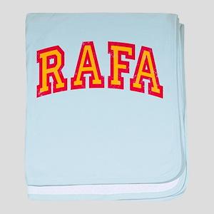 Rafa Red & Yellow baby blanket