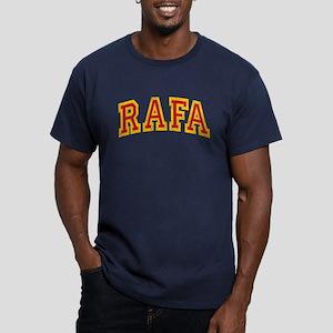 Rafa Red & Yellow Men's Fitted T-Shirt (dark)