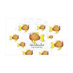 Unschooler Fish 38.5 x 24.5 Wall Peel