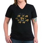 Unschooler Fish Women's V-Neck Dark T-Shirt