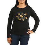 Unschooler Fish Women's Long Sleeve Dark T-Shirt
