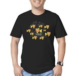 Unschooler Fish Men's Fitted T-Shirt (dark)