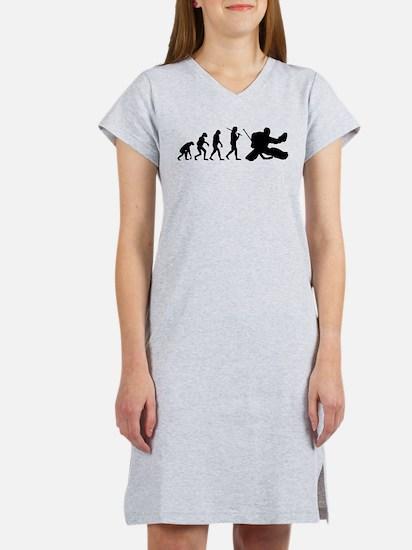 Cute Hockey evolution Women's Nightshirt