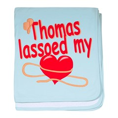 Thomas Lassoed My Heart baby blanket