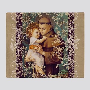 Saint Anthony Throw Blanket