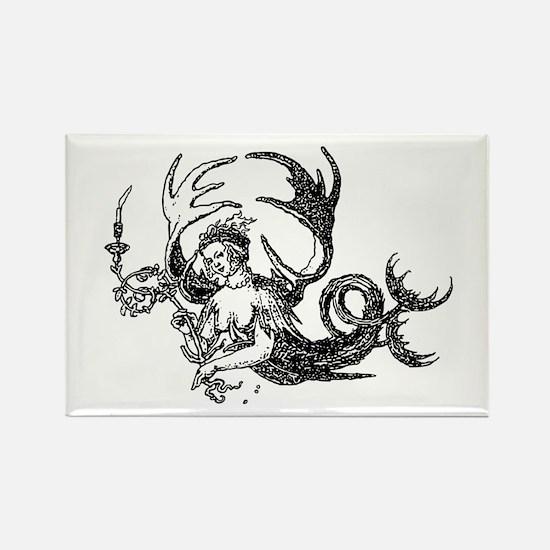 Durer Mermaid Rectangle Magnet