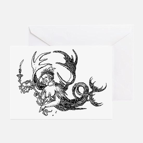 Durer Mermaid Greeting Cards (Pk of 10)