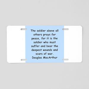 douglas macarthur Aluminum License Plate
