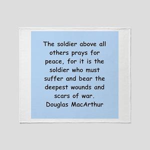 douglas macarthur Throw Blanket