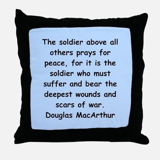 douglas macarthur Throw Pillow