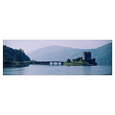 Castle at the lakeside, Eilean Donan Castle, Loch  Poster