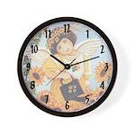 Garden Angel Wall Clock