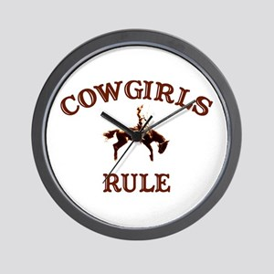 cowgirls rule Wall Clock