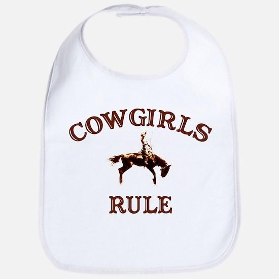 cowgirls rule Bib