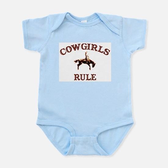 cowgirls rule Infant Creeper