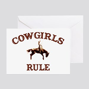 cowgirls rule Greeting Cards (Pk of 10)